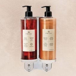 Podwójny wspornik do kosmetyków prija, przykręcany do ściany - Prija, 1 szt.