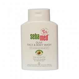 Oliwkowa bezalkaliczna emulsja do mycia twarzy i ciała,  Olive Face & Body Wash - Sebamed, 200 ml