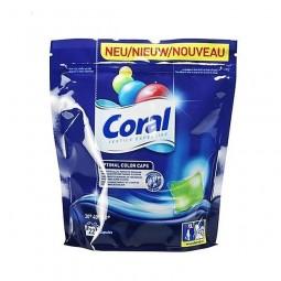 Rozpuszczalne, niemieckie kapsułki do prania kolorów, niemieckie Caps Color - Coral, 22 szt