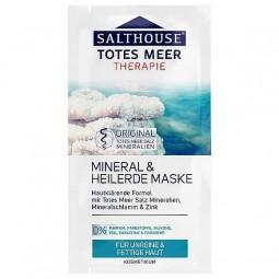 Maseczka do twarzy, wrażliwej, tłustej, z błotem morskim - SaltHouse Therapie, 2 x 7 ml