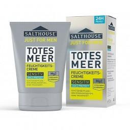 Krem męski do twarzy z minerałami, delikatny, ochrona 24 h, skóra sucha i wrażliwa - Salthouse therapy, 75 ml.
