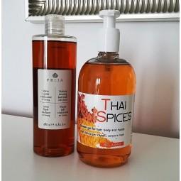 Komplet kosmetyków hotelowych, Thai Spices żel, Prija mydłow w płynie - Prija, Thai Spices, 1x500ml, 1x380 ml.