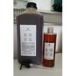 Żel pod prysznic i szampon do włosów w jednym, włoskie kosmetyki hotelowe z żeń-szeniem - Prija, 3l i 380 ml