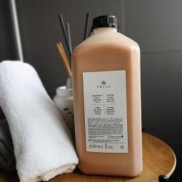 Płyn do kąpieli,duże opakowanie, kremowy, eksluzywny, z żeń-szeniem i drobinkami złota - Prija, 3 litry