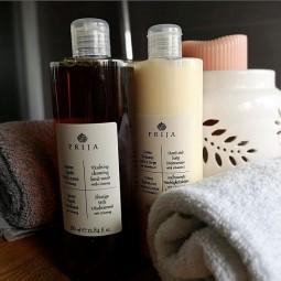 Prija, zestaw kosmetyków, balsam do ciała i mydło w płynie - Prija, 2 x 380 ml.