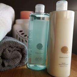 Komplet kosmetyków do ciała, balsam i żel pod prysznic, hotelowy zestaw Geneva Guild - Geneva, 2x380 ml.