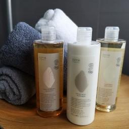 Osme, kosmetyki eko w zestawie, balsam, żel pod prysznic, mydło w płynie, eko kosmetyki - Osme, 3 szt.