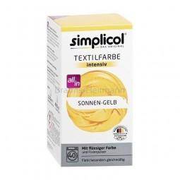 Farba do farbowania odzieży i tkanin, żółta - Simplicol, 750 g