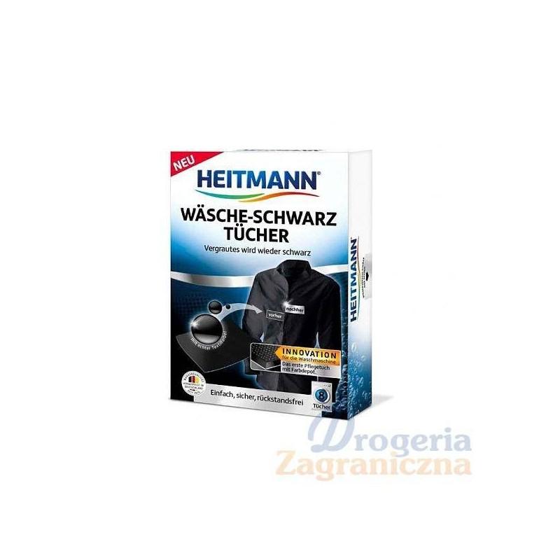 Chusteczki do farbowania czarnej odzieży i tkanin – Heitmann, 8 szt.