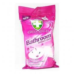 Chusteczki nawilżone do mycia łazienek, bathroom - Green Shield, 50 szt.