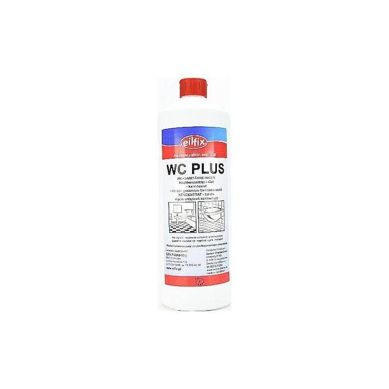 Żel do mycia łazienek, zasadowy, delikatny, pachnący, wc plus - Eilfix, 1 litr