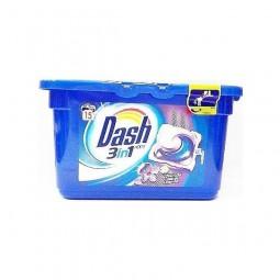 Kapsułki żelowe do prania uniwersalne, rozpuszczalne, lawenda - DASH, 15 prań
