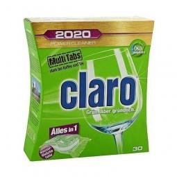 Ekologiczne biodegradalne rozpuszczalne tabletki do zmywarki, 12 w 1, multi energy 2020 - CLARO, 30 szt.