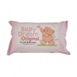 Chusteczki nawilżone do skóry dziecięcej, bez alkoholu, orginal - BABY DREAM, 72 szt