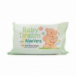 Chusteczki nawilżone dla dzieci, bez zapachu, z aloesem - BABY DREAM, 72 szt
