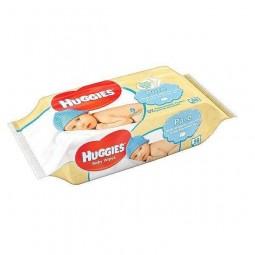 Nawilżone chusteczki dla dziecięcej skóry, pure - HUGGIES BABY WIPES, 56 szt.
