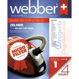 Syntetyczne worki do odkurzacza z filtrem, Zelmer - Webber (1)