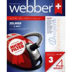 Syntetyczne worki do odkurzacza z filtrem, Zelmer - Webber (3)
