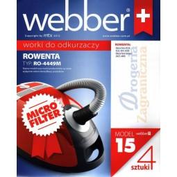 Syntetyczne worki do odkurzacza z filtrem, Rowenta - Webber (15)