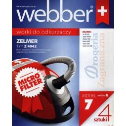 Syntetyczne worki do odkurzacza z filtrem, Zelmer - Webber (7)