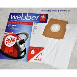 Syntetyczne worki do odkurzacza z filtrem, Zelmer - Webber (6)