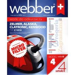 Syntetyczne worki do odkurzacza z filtrem, Zelmer, Alaska, Clatronic - Webber (4)