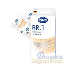 Prezerwatywy extra nawilżone, Ritexn RR.1, oryginalne niemieckie - Ritex, 10 szt.