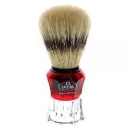 Pędzel do golenia z naturalnej szczeniny, włoski - Omega 81054, 1 szt