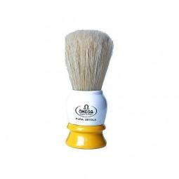 Pędzel do golenia z naturalnej szczeniny, włoski - Omega 10075, 1 szt
