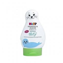 Szampon i żel do kąpieli dla małych dzieci, skóra delikatna - Hipp Baby, 200 ml.