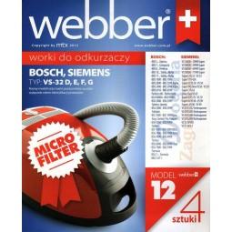 Syntetyczne worki do odkurzacza z filtrem, Bosch, Siemens - Webber (12)