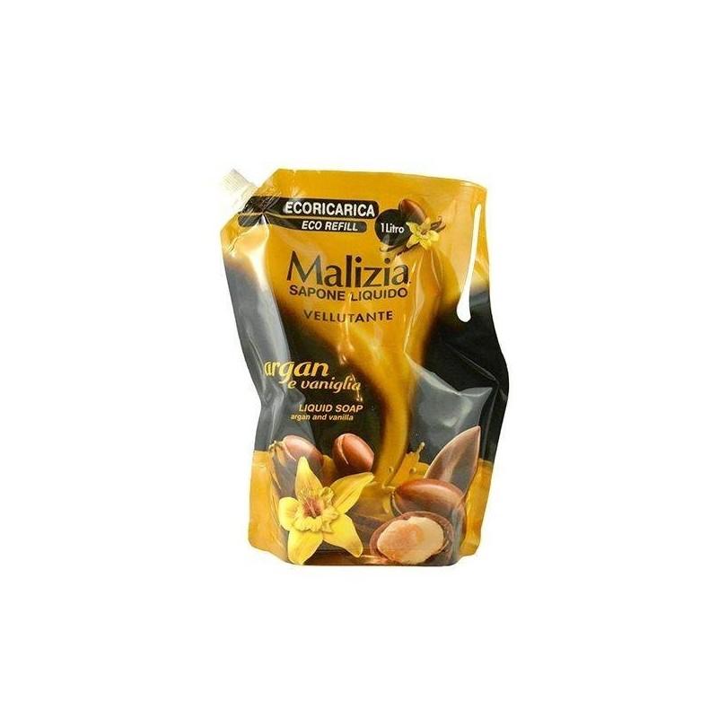 Włoskie arganowe mydło w płynie, uzupełnienie do dozowników - Malizia, 1 litr