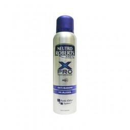 Dezodorant męski w spray, anti sudore X Pro, bez alkoholu - Neutro Robetrs, 150 ml.