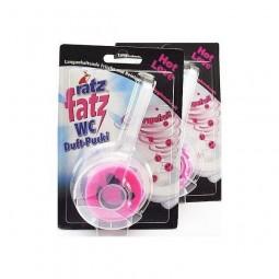 Kostka zapachowa, różowa buźka, do toalety, długo pachnąca, różowy grejpfrut -  RATZ FATZ, 1 szt./ 50 g.