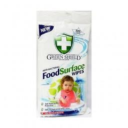 Chusteczki nawilżone do mycia kuchni, blatów kuchennych, antybakteryjne wilgotne - GREEN SHIELD, 50 szt.
